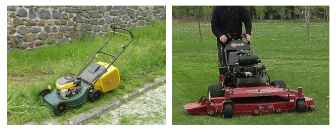 consumer vs commercial mower